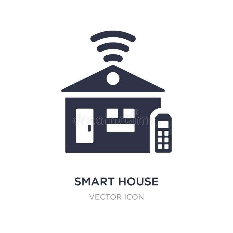 intelligente Hausikone auf weißem Hintergrund Einfache Elementillustration vom zukünftigen Technologiekonzept lizenzfreie abbildung