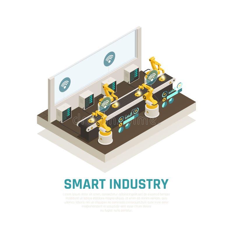 Intelligente Industrie-Zusammensetzung lizenzfreie abbildung