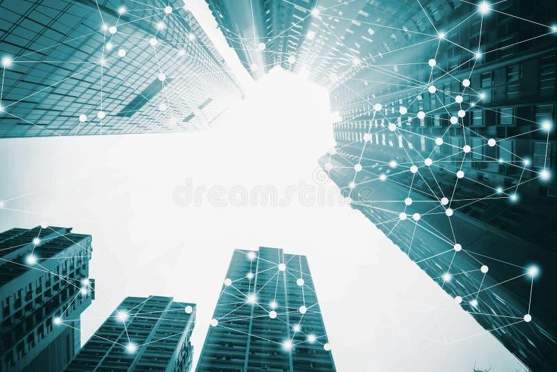 Intelligente Stadt und Internet von Sachen lizenzfreies stockfoto