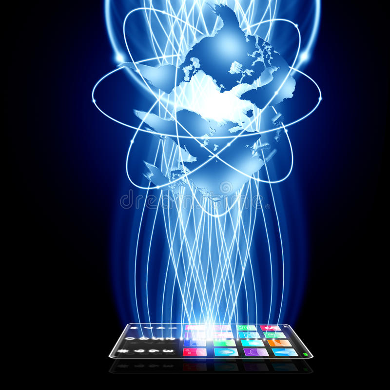 Intelligente Technologie schließen an vektor abbildung