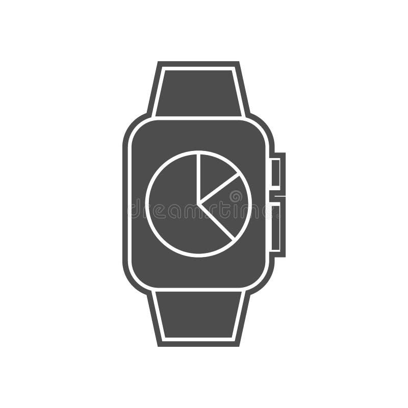 intelligente Uhr mit Kameraikone Element von minimalistic f?r bewegliches Konzept und Netz Appsikone Glyph, flache Ikone f?r Webs lizenzfreie abbildung