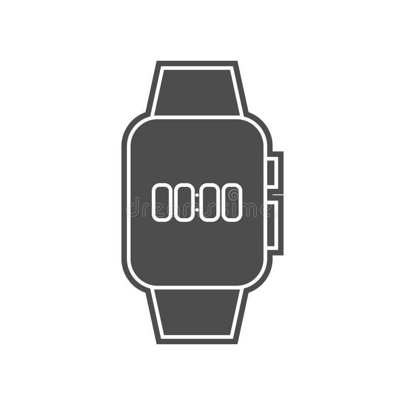 intelligente Uhranrufikone Element von minimalistic f?r bewegliches Konzept und Netz Appsikone Glyph, flache Ikone f?r Websiteent lizenzfreie abbildung