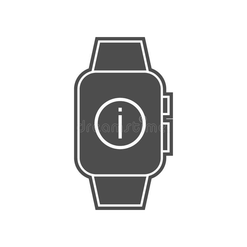 intelligente Uhreinstellungsikone Element von minimalistic f?r bewegliches Konzept und Netz Appsikone Glyph, flache Ikone f?r Web lizenzfreie abbildung