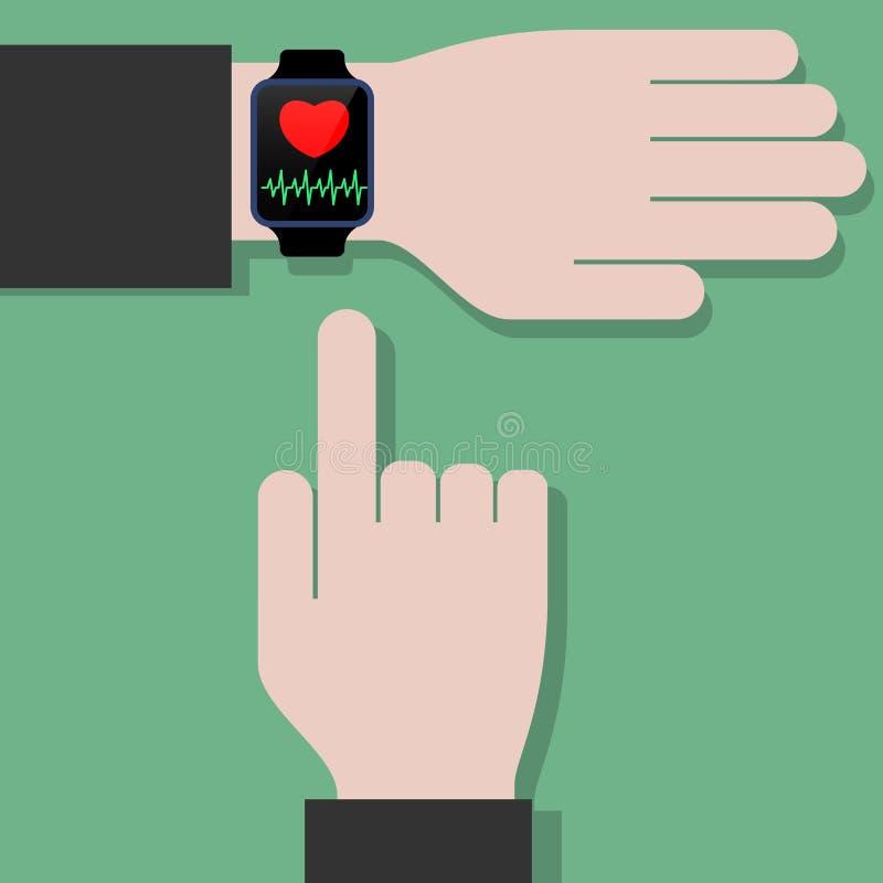 Intelligente Uhrgesundheitsüberwachung lizenzfreie stockfotografie