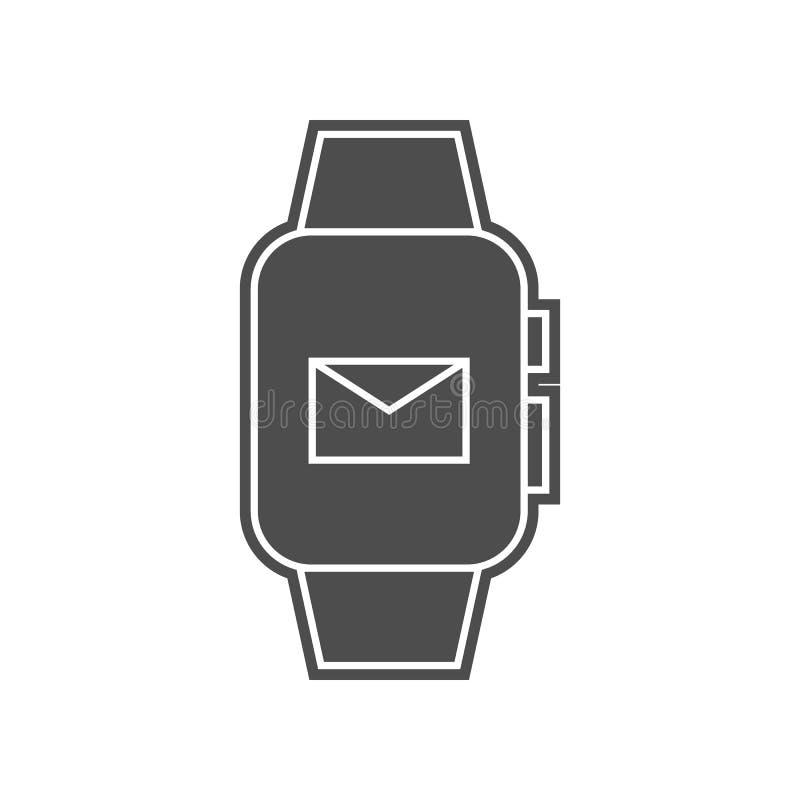 intelligente Uhrh?rerikone Element von minimalistic f?r bewegliches Konzept und Netz Appsikone Glyph, flache Ikone f?r Websiteent stock abbildung