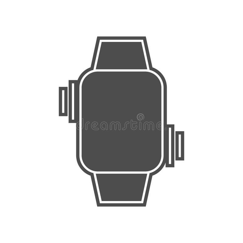 intelligente Uhrmitteilungsikone Element von minimalistic f?r bewegliches Konzept und Netz Appsikone Glyph, flache Ikone f?r Webs lizenzfreie abbildung