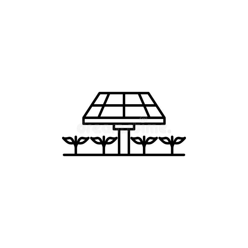 intelligenter Bauernhof, Sonnenkollektorikone Element der intelligenten Bauernhofikone Dünne Linie Ikone für Websitedesign und En vektor abbildung