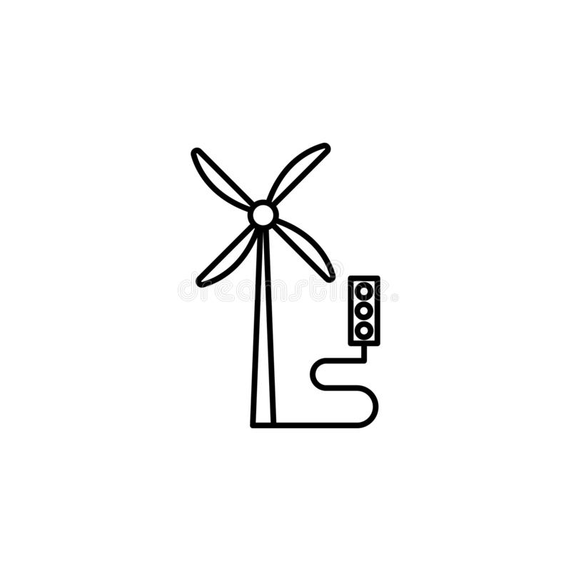 intelligenter Bauernhof, Windmühlenikone Element der intelligenten Bauernhofikone Dünne Linie Ikone für Websitedesign und Entwick vektor abbildung