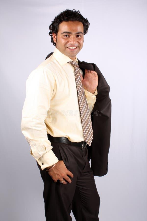 Intelligenter indischer Geschäftsmann stockfotos