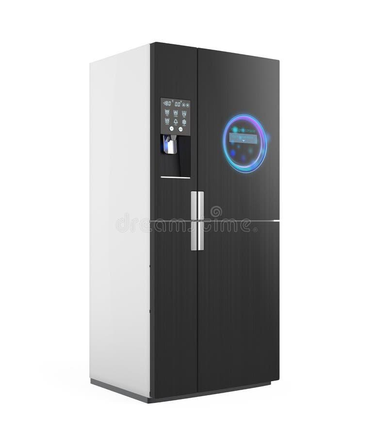 Intelligenter Kühlschrank Mit Eiszufuhrfunktion Stock Abbildung ...