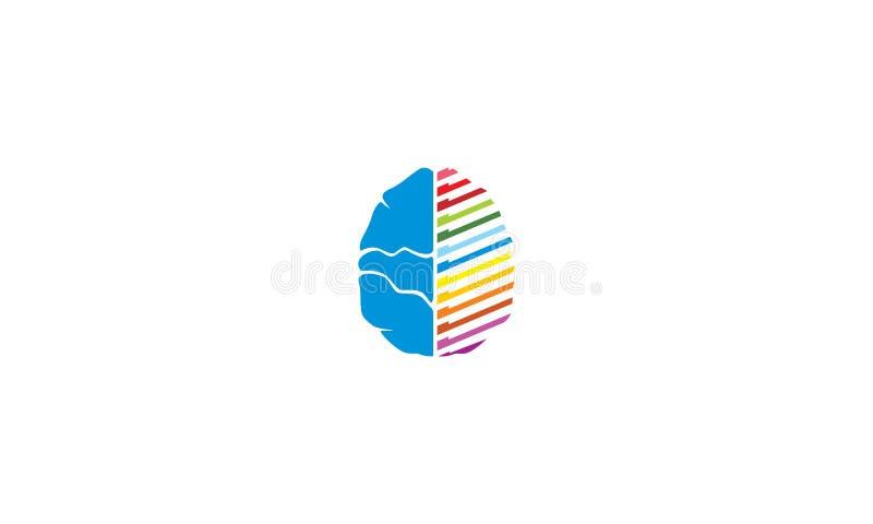 Intelligenter Logovektor der Gehirntechnologie lizenzfreie abbildung