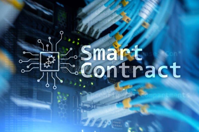 Intelligenter Vertrag, blockchain Technologie im modernen Geschäft vektor abbildung