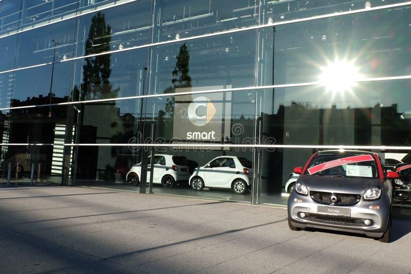 Intelligentes Auto, Mercedes Benz Munich stockfoto