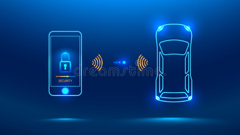 Intelligentes Autosicherheitssystem lizenzfreie abbildung
