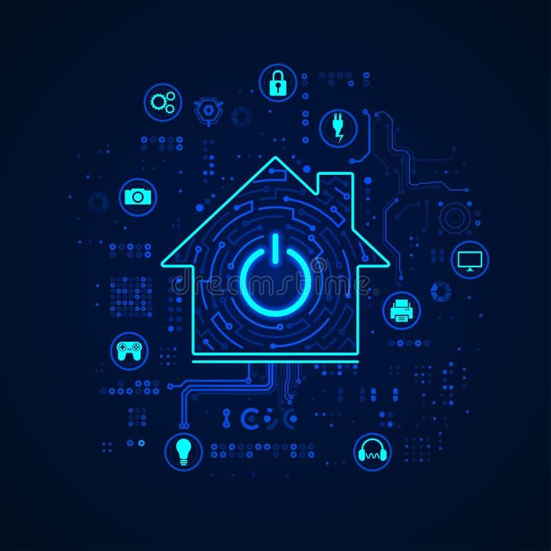Intelligentes Haus lizenzfreie abbildung