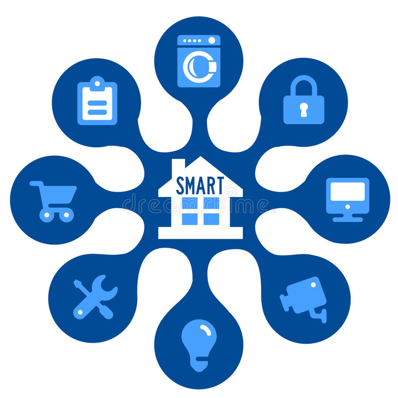 Download Intelligentes Haus stock abbildung. Illustration von gerät - 47100429