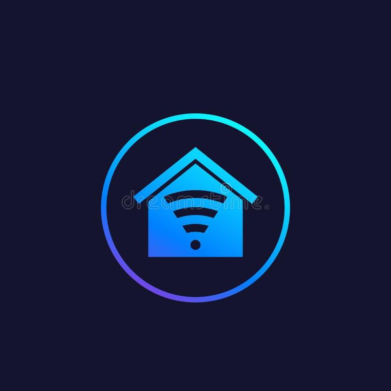 Intelligentes Haus App-Vektorlogo vektor abbildung