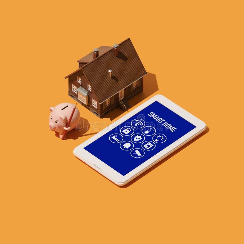 Intelligentes Haus und IOT vektor abbildung
