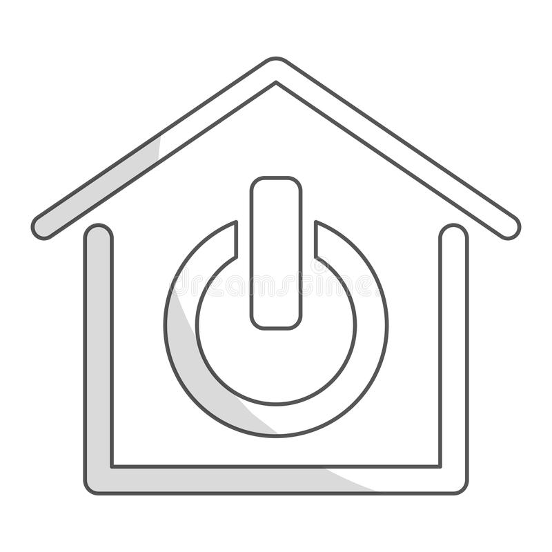Intelligentes Hausdesign lizenzfreie abbildung