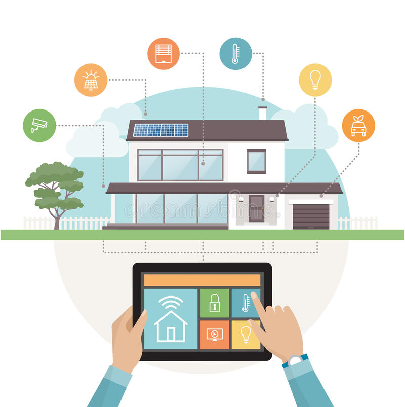Intelligentes Haussystem stock abbildung