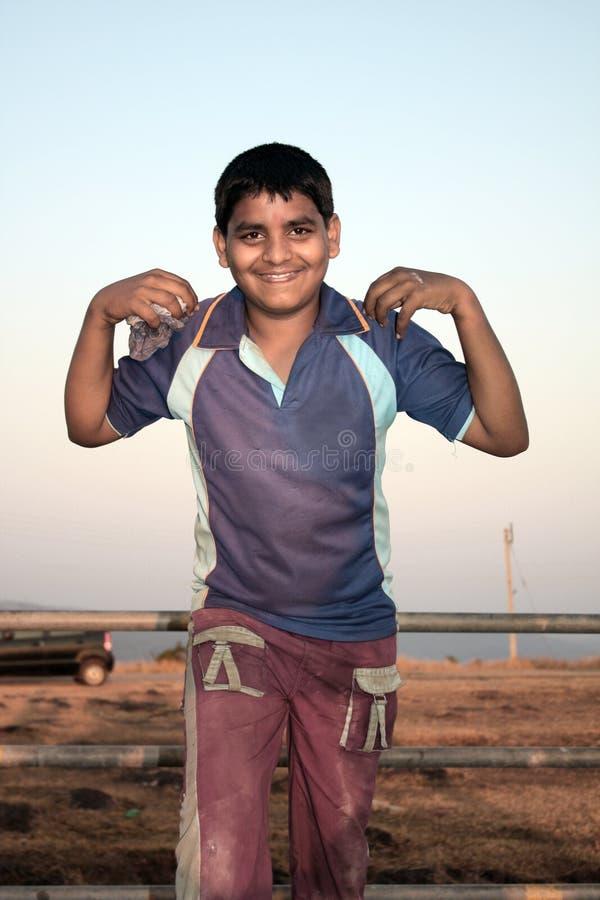 Intelligentes indisches Kind lizenzfreies stockfoto