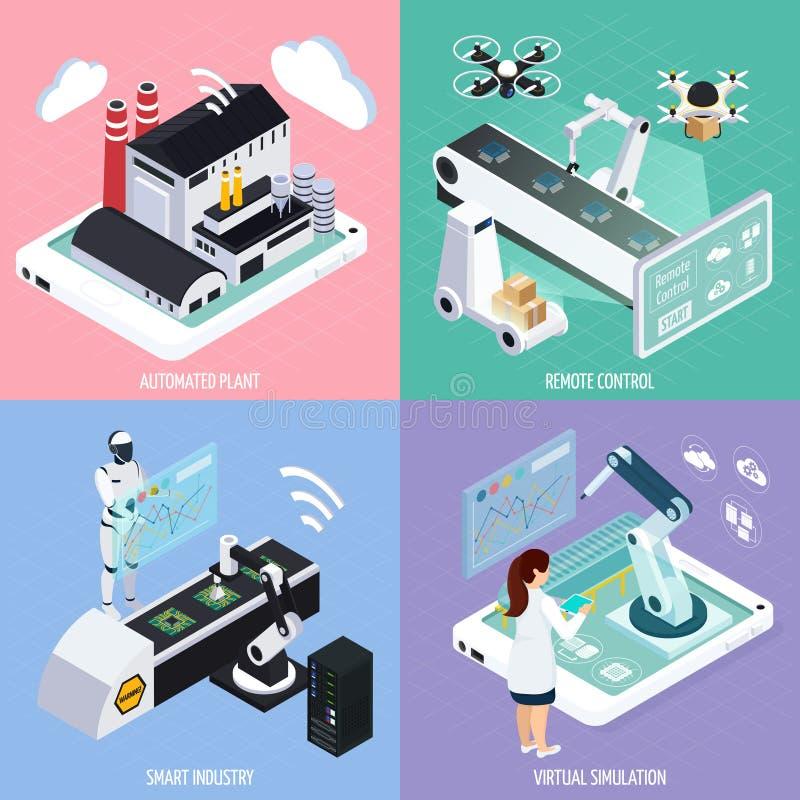 Intelligentes Industrie-Konzept des Entwurfes lizenzfreie abbildung
