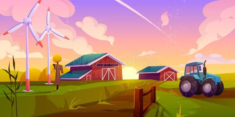 Intelligentes Konzept für ökologische Landwirtschaft vektor abbildung