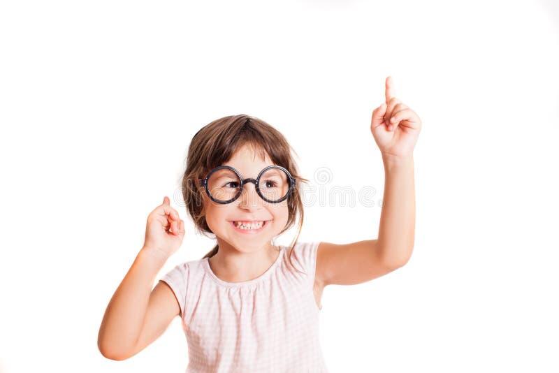 Intelligentes Mädchen hat eine gute Idee lizenzfreie stockfotografie