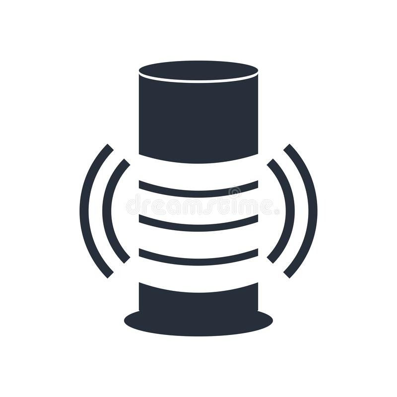 Intelligentes Sprecherikonenvektorzeichen und -symbol lokalisiert auf weißem Hintergrund, intelligentes Sprecherlogokonzept vektor abbildung