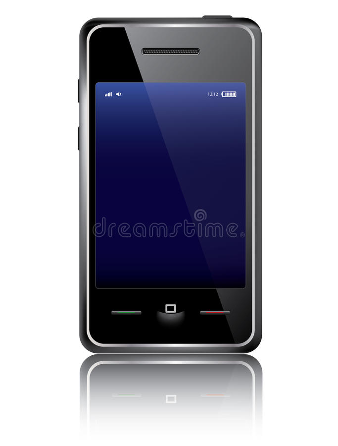 Intelligentes Telefon stock abbildung