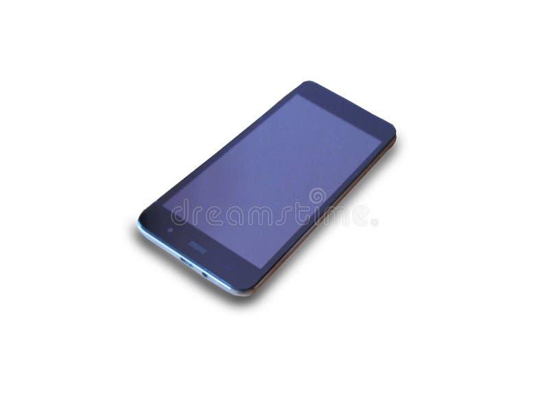 Intelligentes Telefon auf Reinweißhintergrund lizenzfreies stockbild