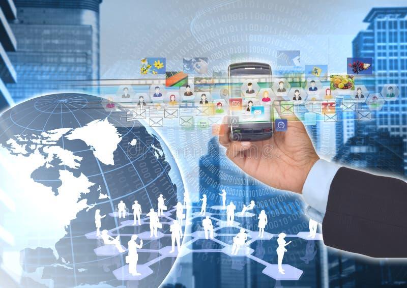 Intelligentes Telefon und Internet 01 lizenzfreies stockfoto