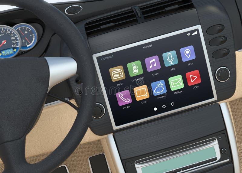 Intelligentes Touch Screen Multimediasystem für Automobil stockbild