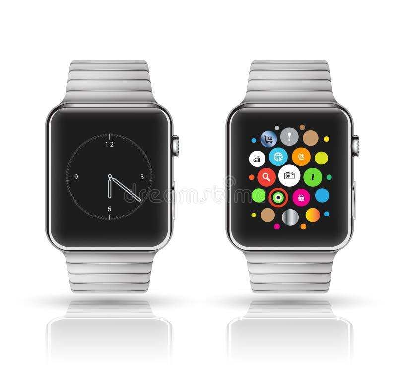 Intelligentes Uhrmodell stock abbildung