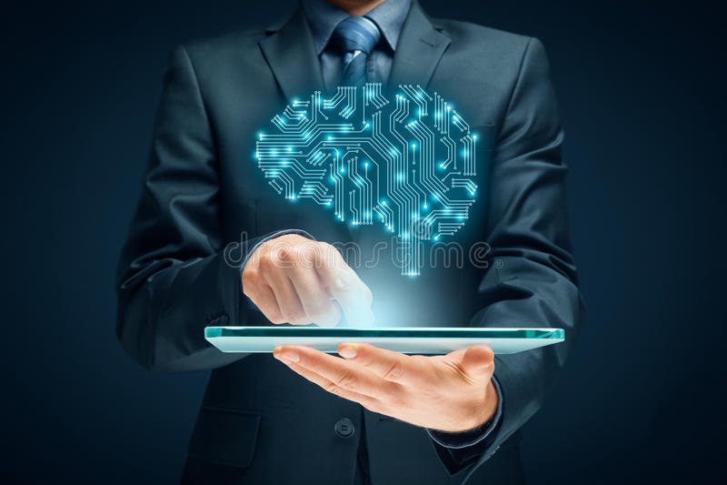 Intelligenza artificiale immagini stock