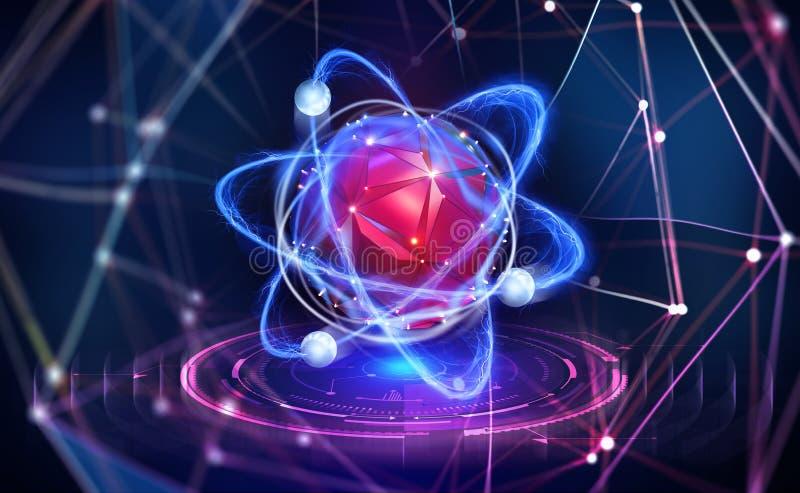 Intelligenza artificiale Creazione di una mente digitale Unità di elaborazione innovatrice nel Cyberspace globale royalty illustrazione gratis
