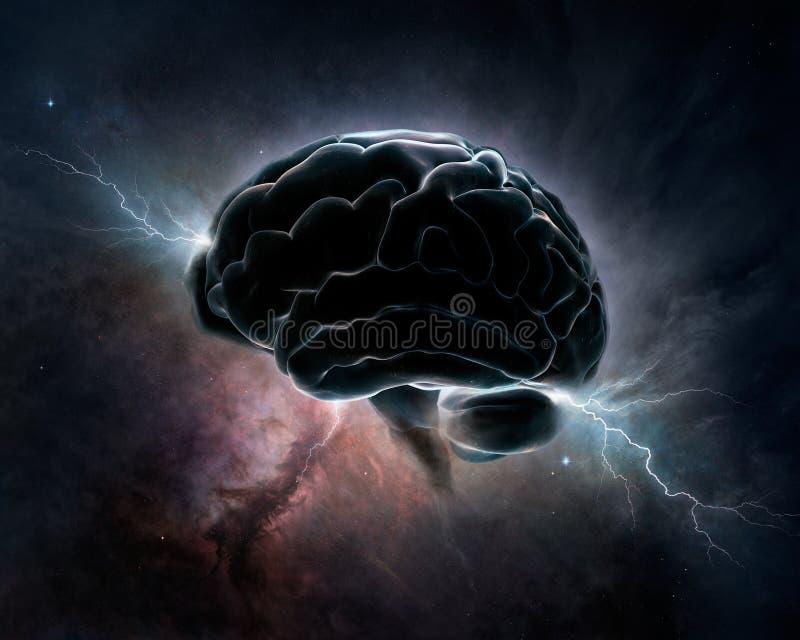 Intelligenza cosmica - cervello in universo royalty illustrazione gratis