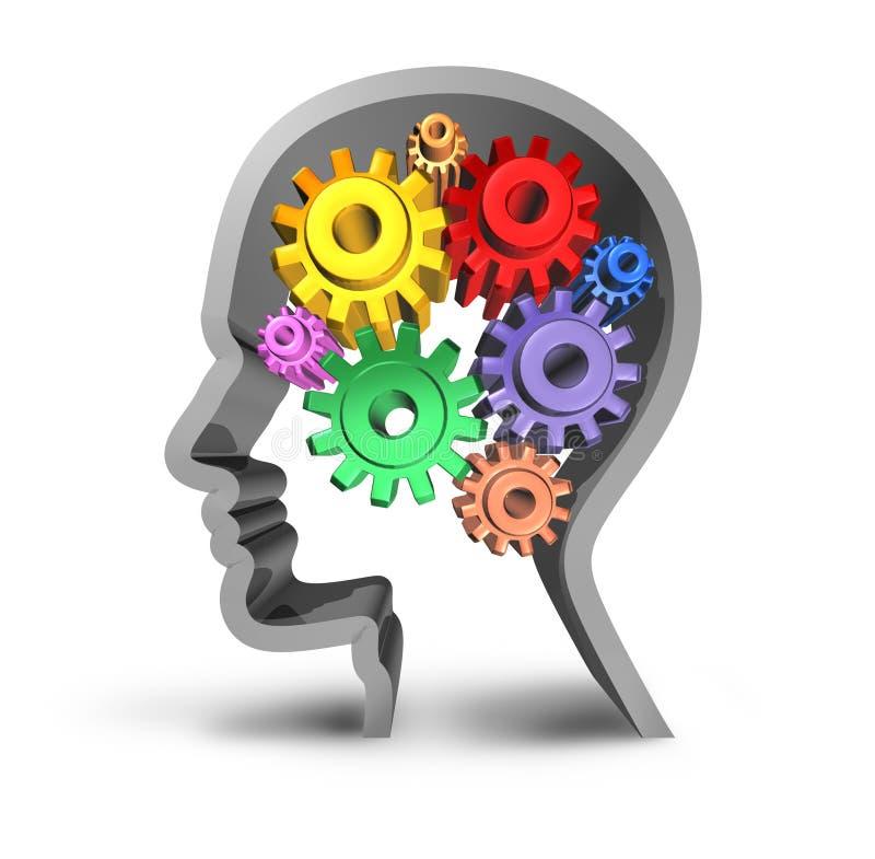 Intelligenza di attività di cervello illustrazione di stock