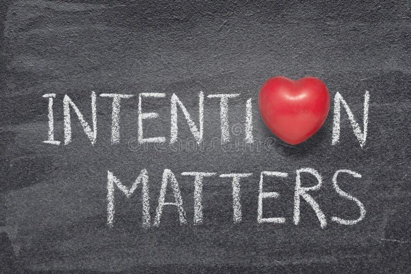 A intenção importa coração fotografia de stock