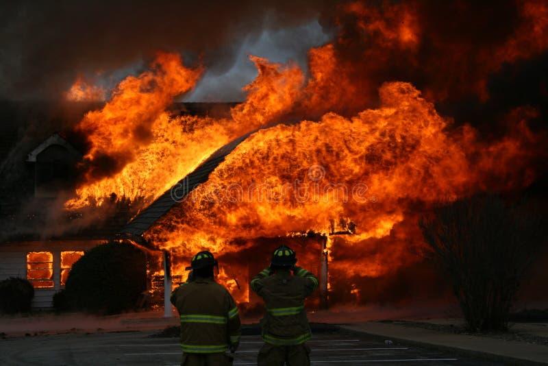 An Intense Blaze, Dramatic House Fire Stock Image