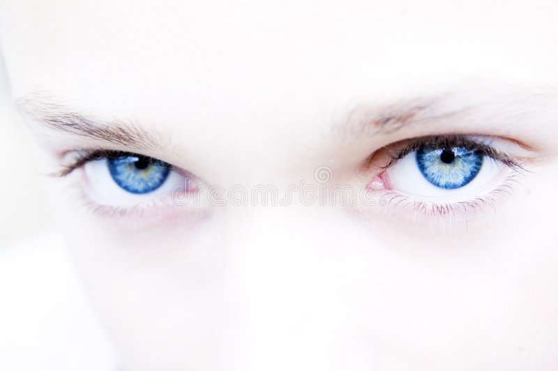 Intense Blue Eyes Royalty Free Stock Images