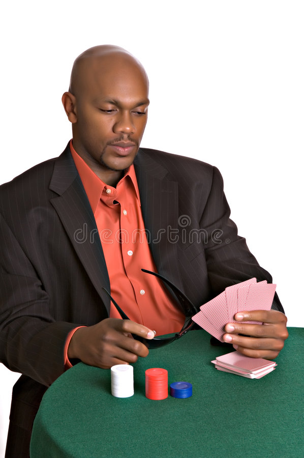 Intense Gambler Stock Photography
