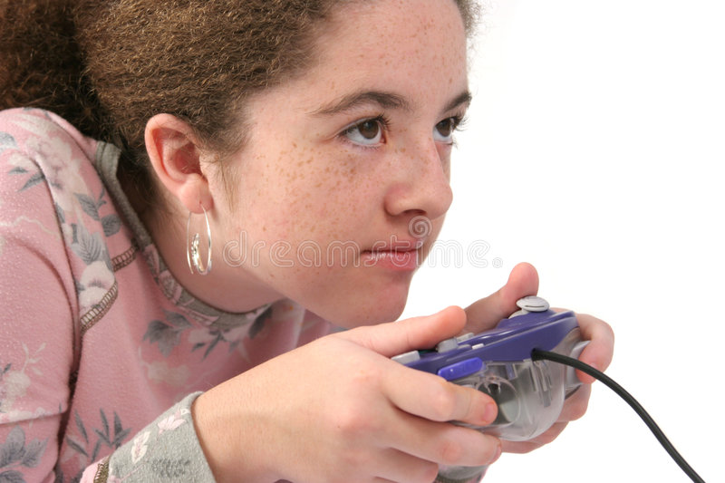 Intense Gamer stock photography
