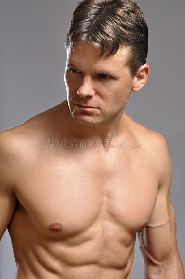 Download Intense muscular man stock image. Image of chest, muscular - 27163689