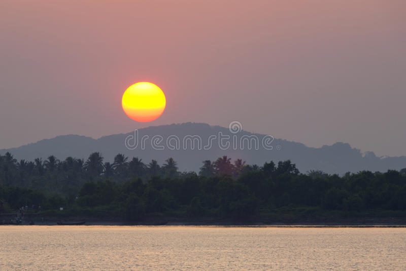 Download Dramatic Sunset Over River stock image. Image of orange - 29801687
