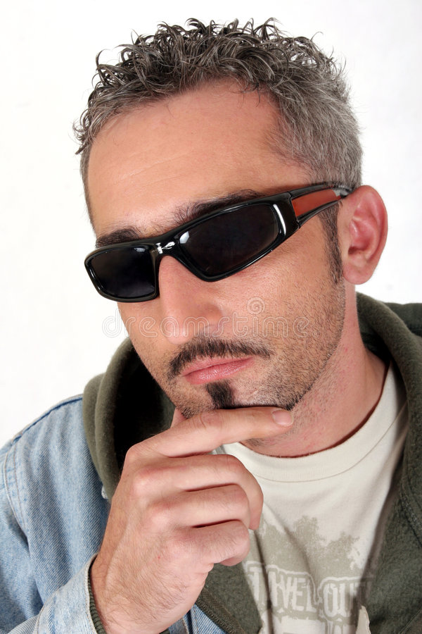 Download Intense With Sunglasses 2 stock photo. Image of covert - 1422952