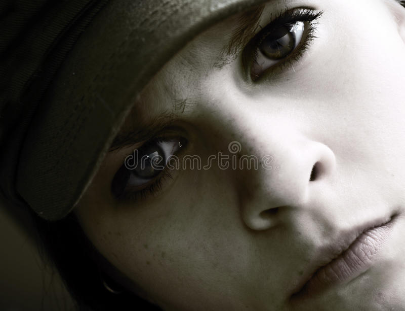 Intense Woman Royalty Free Stock Photography