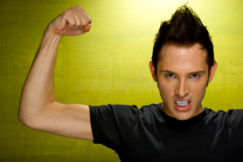 Download Intense Young Male stock image. Image of strong, flexed - 12162619