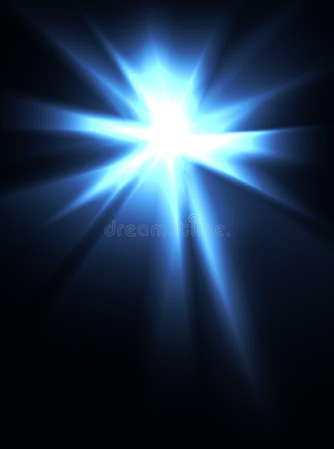 intensiv lampa för ljus bristning arkivfoto