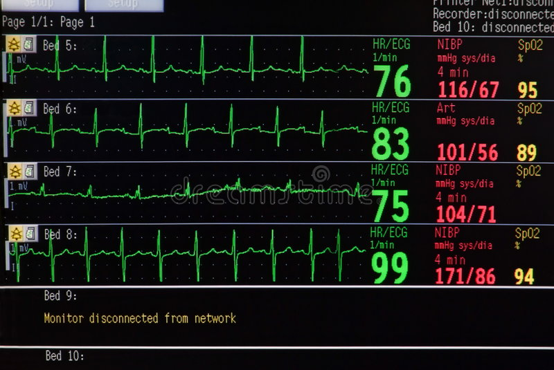 Download Intensive Care Unit Monitor Stock Photo - Image: 1558668